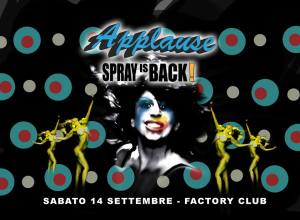 spray's back applause 2